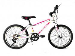 """Modesta Kinetic 20"""" Bicikl za decu sa 6 brzina - Roze/beli ( 20015 )"""