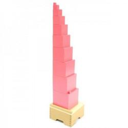 Montesori Pink kula sa postoljem ( ATS0047 )