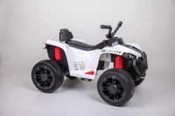 Motor Kvad na akumulator sa daljinskom kontrolom i mekim gumama - Beli