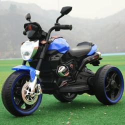 Motor Srednji R na akumulator sa svetlećim točkovima i 2 pogona - Plavi