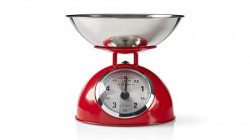 Nedis Retro Kitchen Scales Analogue Metal Red ( 039543 )