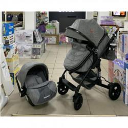 Nounou Dečija kolica + autosedište g2 light grey ( 531LG )