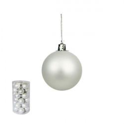 Novogodišnje ukrasne kugle - pakovanje 30 komada - Srebrne ( 170525 )