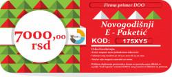Novogodišnji E-Paketić Vaučer - 7000 din