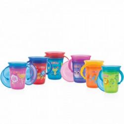 Nuby no spill čaša sa ručkama 360, 6m+, 240ml ( A029716 )