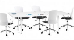 Office elegant - Daktilo stolica 3118-6 Belo-Crna