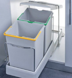 Pelikan Kanta za otpatke sa automatskim otvaranjem i plastičnom bazom, svetlo siva, 14 + 14l ( 21550 )