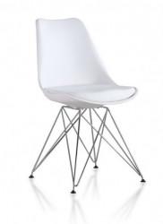 Plastična trpezarijska stolica CHARLIE M - Bela