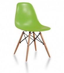 Plastična trpezarijska stolica CHARLIE MAT - Zelena