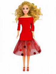 Pom pom haljina ( H-01 ) crvena