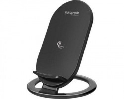 Promate Ultra-Fast wireless dock sa Led svetlom AuraDock-3 crni
