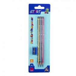 Start olovke grafitne neo 3kom i zarezaČ na blisteru start ( STR6134 )