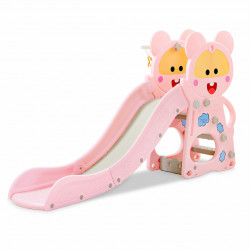 Tobogan sa košem za decu 182x41x105 - Pink ( 014 )