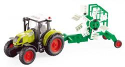 Traktor sa priključnom mašinom sa zvukom i svetlom 1:16 WY900D ( 50/17962 )