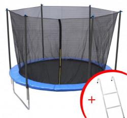 Trambolina 244 cm sa sigurnosnom mrežom + merdevine