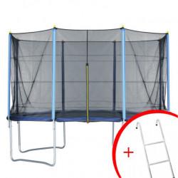 Trambolina + mreža set 396 cm - do 150 kg + merdevine