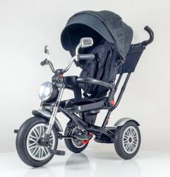 Tricikl Guralica CHOPPER - Model 438 sa gumenim točkovima - Crni