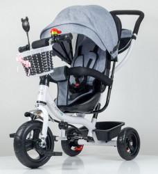 Tricikl Guralica Playtime 406-1 sa mekim sedištem - Siva