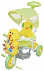 Tricikl za decu Kuca sa melodijama - žuti
