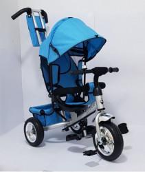 Tricikl za decu Model 02 sa rotirajućim sedištem - Plavi