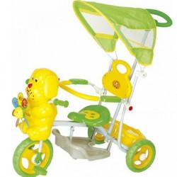 Tricikl za decu model sa kucom - žuti - do 25 kg