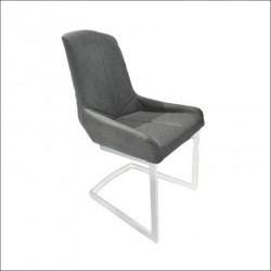 Trpezarijska stolica DC-1949 Tamno siva eko koža/hrom noge ( 770-729 )