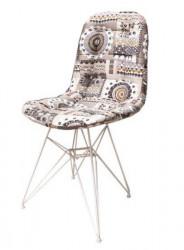 Trpezarijska stolica Mona Lux D - pachwork dezen