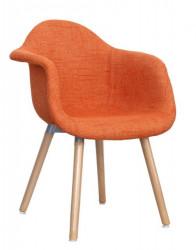 Trpezarijska stolica SEM ŠTOF - Narandžasta