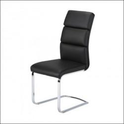 Trpezarijska stolica X-1105 Noge hrom /Crna ( 779-012 )