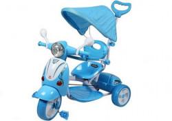 Vespa Tricikl 410 za decu sa tendom +  mekano sedište - plavi