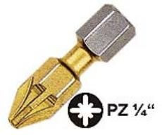 "Witte pin PZ2 1/4""x25 flex tin ( 28446 )"