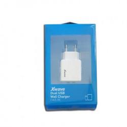 Xwave USB zidni punjač za mobilne, tablete, Dual USB, 5V 1A/2.1A, Bela ( Xwave H22 )