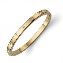 Ženska Oliver Weber Choice Gold Crystal Zlatna Narukvica Sa Swarovski Belim Kristalom