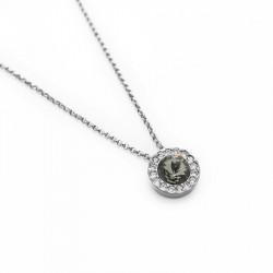 Ženska Victoria Cruz Premium Black Diamond Ogrlica Sa Swarovski Crnim Kristalom