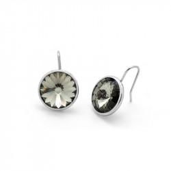 Ženske Victoria Cruz Basic Hook G Black Diamond Mindjuše Sa Swarovski Crnim Kristalom
