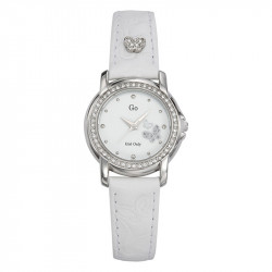 Ženski Girl Only Envole moi Leptir Modni Beli ručni sat sa belim kožnim kaišem