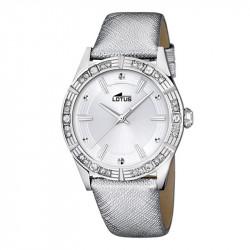 Ženski Lotus Trendy Srebrni Elegantni ručni sat sa srebrnim kožnim kaišem