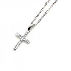 Ženski Oliver Weber Cross 925AG Crystal Srebrni Lančić Sa Belim Swarovski Kristalnim Priveskom