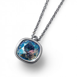 Ženski Oliver Weber Royal Simple Light Sapphire Shimmer Lančić Sa Plavim Swarovski Kristalnim Priveskom