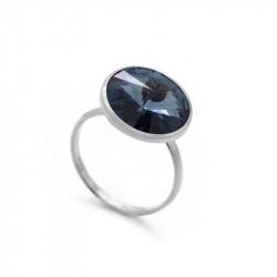 Ženski Victoria Cruz Basic L Denim Blue Prsten Sa Swarovski Plava Kristalom