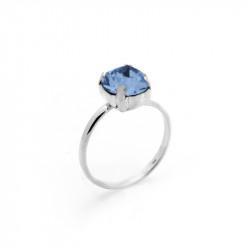 Ženski Victoria Cruz Celine M Denim Blue Prsten Sa Swarovski Plavim Kristalom