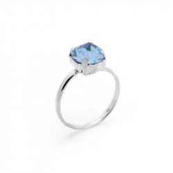 Ženski Victoria Cruz Celine M Light Sapphire Prsten Sa Swarovski Plavim Kristalom