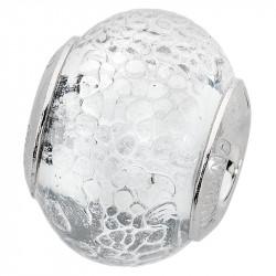 Amore Baci Stakleni srebrni privezak od murano stakla za narukvicu