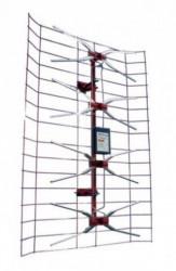 Antena TV panel V2.0 Spoljna sa pojacalom, 15-32db, UHF/VHF/DVB-T2 FO