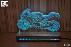Black Cut 3D Lampa jednobojna - Motor ( C08 )
