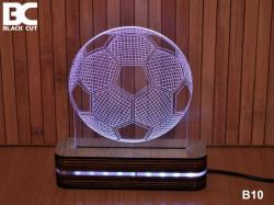 Black Cut 3D Lampa sa 9 različitih boja i daljinskim upravljačem - Fudbalska lopta ( B10 )