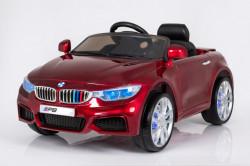 BMW 8 Auto za decu na akumulator sa kožnim sedištima i mekim gumama - Crveni