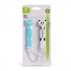 Cangaroo Set silikonskih kašičica baby Panda boy ( CAN1607B )