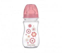 Canpol baby flašica široki vrat antikolik 35/217 Easy start - newborn baby 240ml pink ( 35/217_pin )