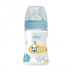 Chicco WB plastična flašica 150ml, silikon, plava ( A048499 )